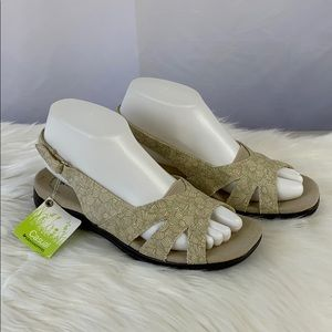 Grasshoppers Beige Sandals adjustable heel strap
